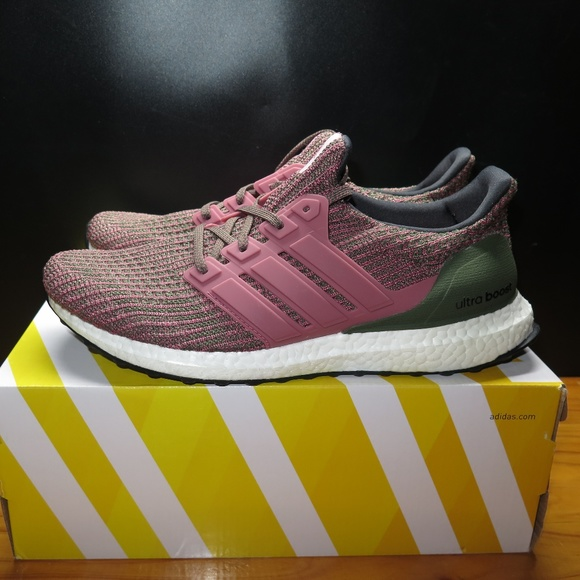 adidas ultra boost green and pink